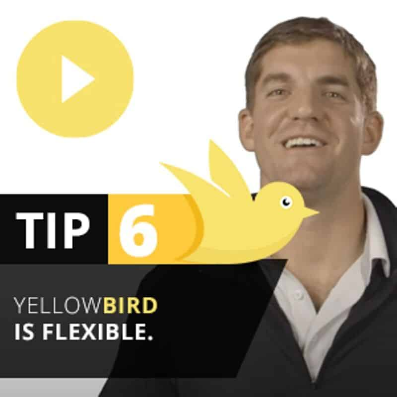 Tip 6 Yellow Bird is Flexible